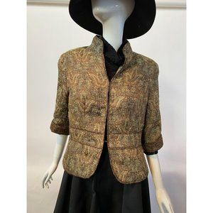 Coldwater Creek Bronze Tapestry Jacket